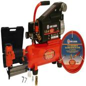 Air Compressor with Finishing Nailer - 2 gal - 1.5 HP