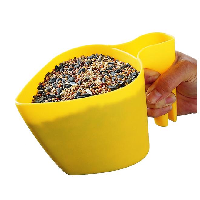 Pelle à main pour graines d'oiseaux, 4 tasses, jaune