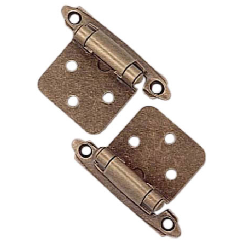 Self-closing hinge - Antique Brass - Pack of 2