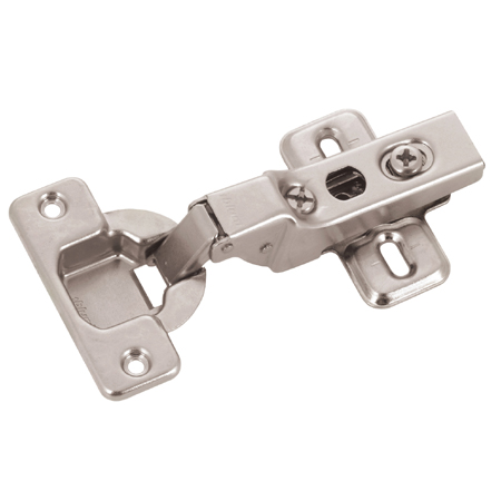 Clip Hinge with Plate - 100° Half Overlay - Steel - 2-Pack