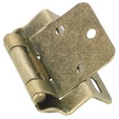 Overlay Self-Closing Hinge - 1/2'' - Antique Brass - 2-Pack