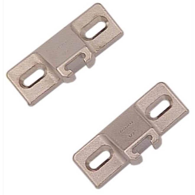 """Plaque de montage latérale à rebord, 1/2"""", zinc, 2/pqt"""