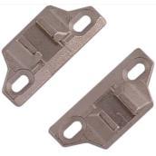 Plaque de montage frontale à rebord, zinc, 2/pqt