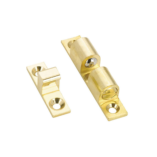 Double Ball Latch - Solid Brass - 59 mm x 11 mm
