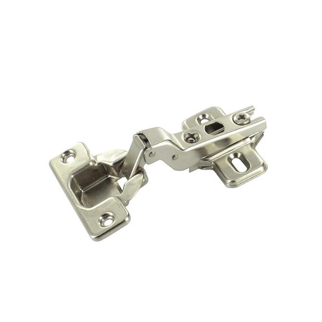 Modul Hinge with Plate - 100° Half Overlay - Steel - 2-Pack
