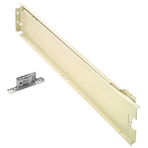 Coulisse de tiroir Metabox, métal, 500 mm, blanc