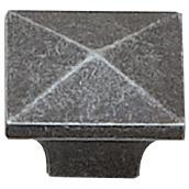 Bouton en métal fer antique