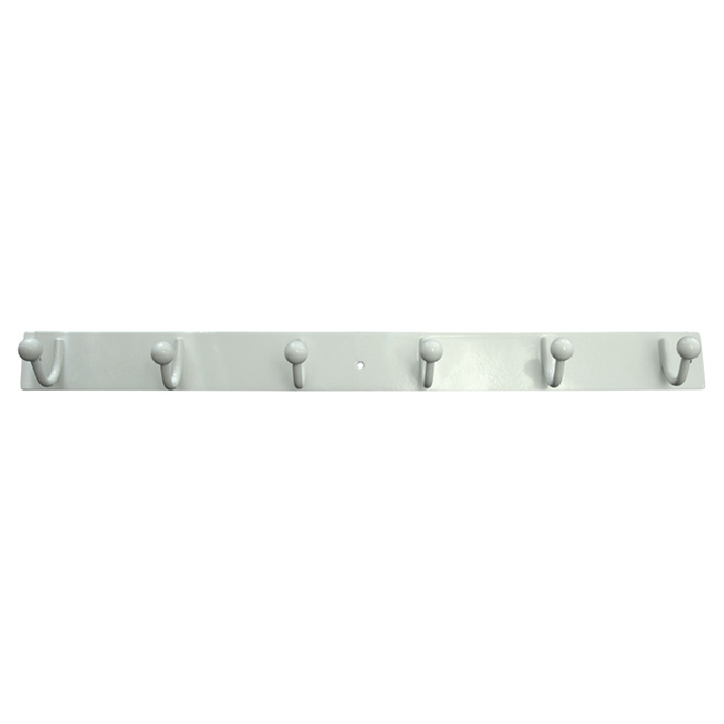 "6-Hook Rack - 20"" - White"