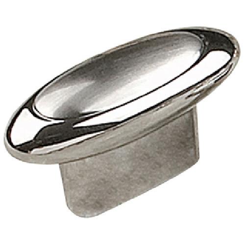 Bouton en métal chrome et nickel brossé