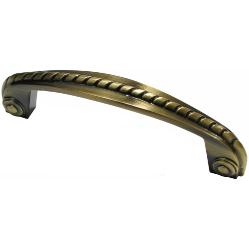 Classic Metal Pull - 96 mm - Antique English