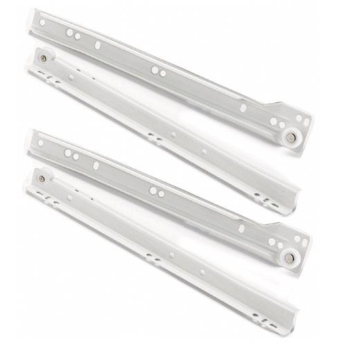 Richelieu Series 102 Euro Drawer Slides - Metal - White - 13 25/32-in L