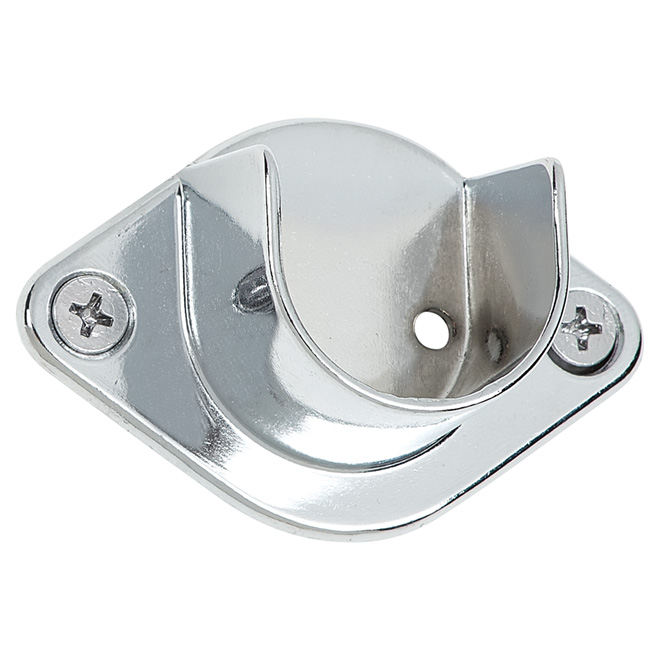 Support de tringle rond ouvert, chrome, 1 1/16""