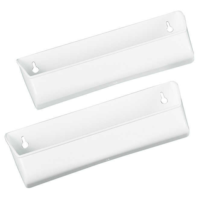 "Molded Tray for Under-Sink Drawer - 11"" - White - 2PK"