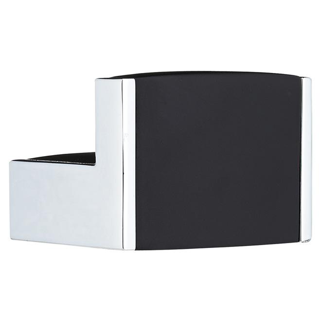 Single Hook - 46 x 57mm - Black and Chrome