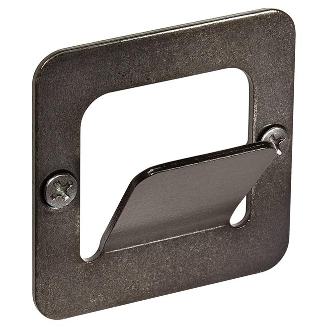 Metal Simple Square Hook - Pewter
