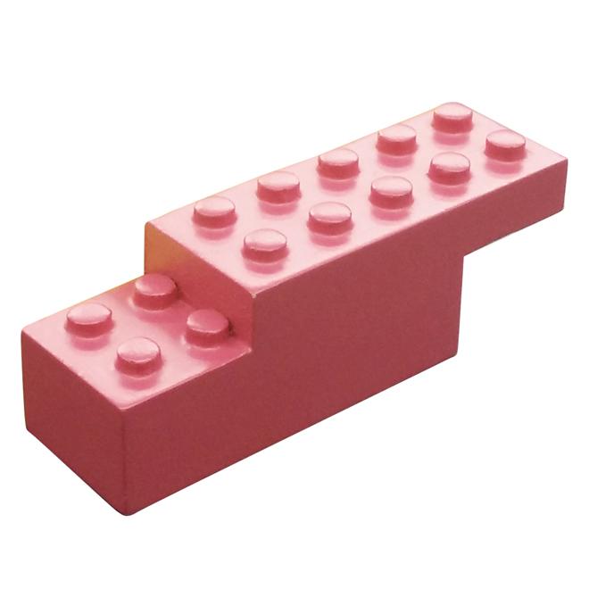Block-Shaped Simple Hook - Wood - Fushia