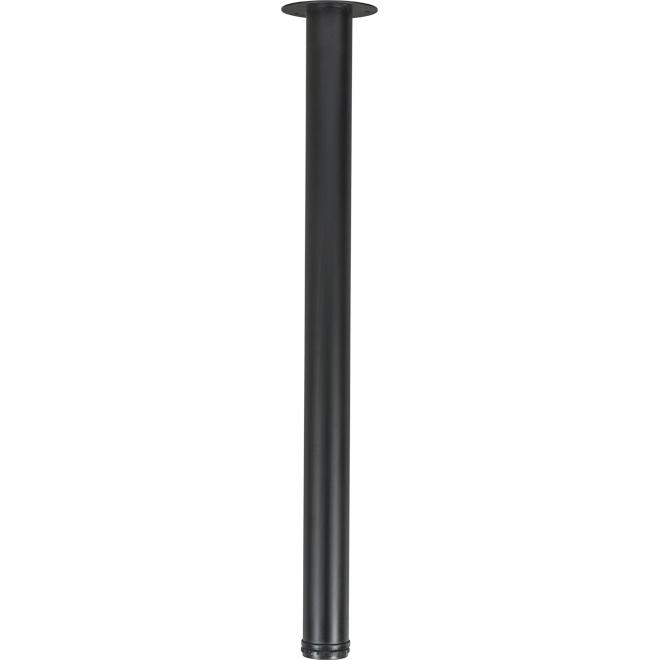 """Round Table Leg - Adjustable - 28"""" - Steel - Black"""