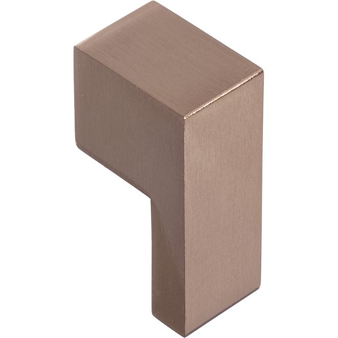 """Poignée moderne en forme de L, bronze oriental, 2-1/8"""""""