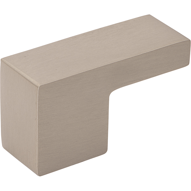 L-Shaped Modern Pull - Brushed Nickel - 2-1/8""