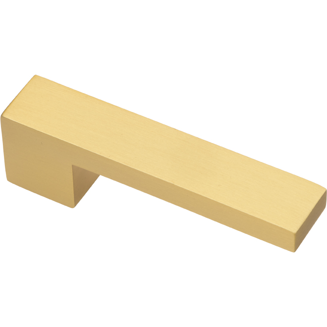 """L-Shaped Modern Pull - Brushed Gold - 3-15/16"""""""