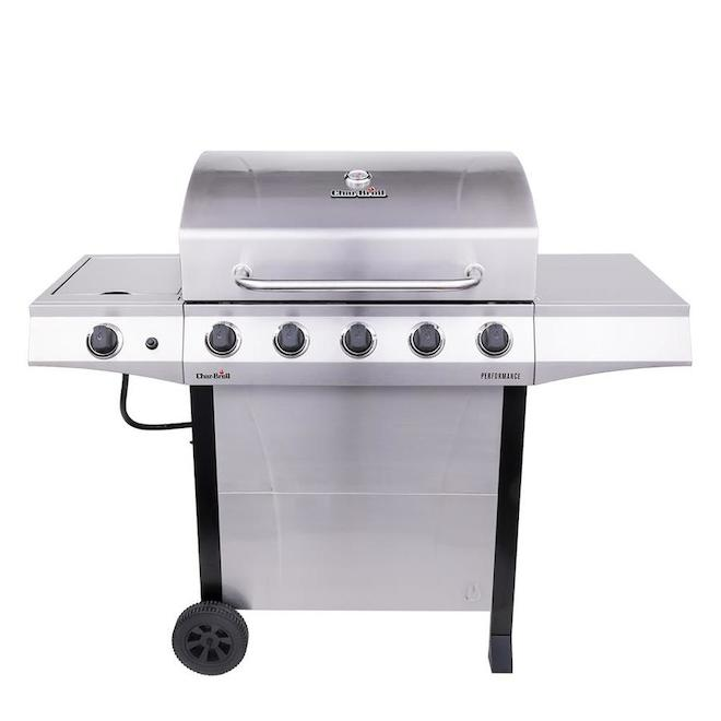 Char-Broil Performance Propane Gas Barbecue - 5 Burners - Silver 463448021