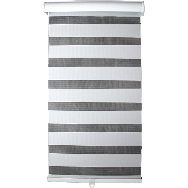 Store horizontal filtrant sans cordon Modern Homes, polyester, 24 po x 72 po, blanc