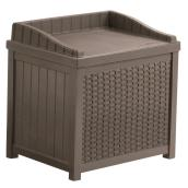 Outdoor Storage Seat - 22 gal - Brown