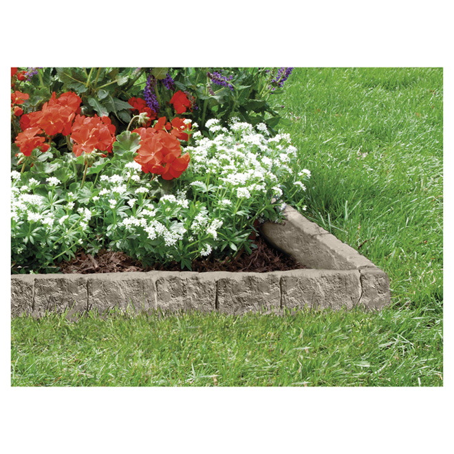 Lawn Edging - Pack of 10 - Resin - Greystone