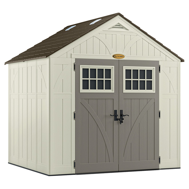 Storage Shed 8' x 7' - Tremont - Resin - Vanilla/Grey