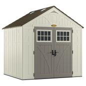 Storage Shed 8' x 7' - Tremont - Resin - Vanilla/Grey
