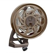 SideTracker Wall-Mount Hose Reel - 125' Capacity - Brown