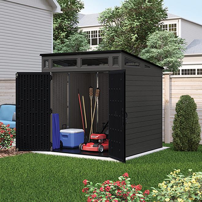Remise de jardin Suncast, 7' x 7', poivre et noir tricorne