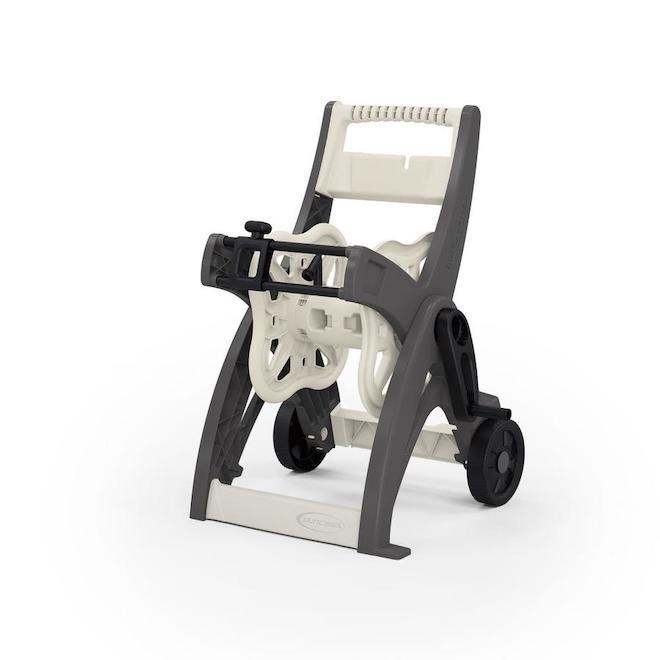 Chariot-dévidoir Suncast pour tuyau de 175 pi, gris