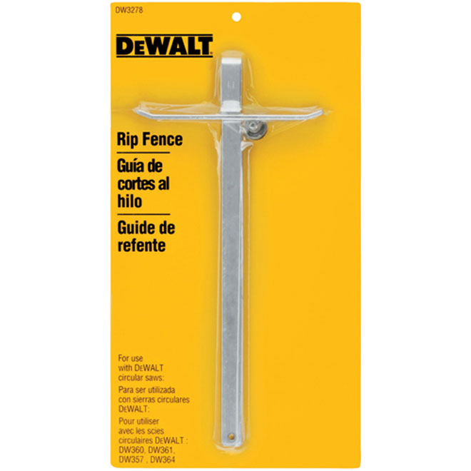 Metal Rip Fence for Dewalt Circular Saws
