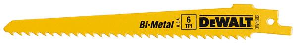 """Lames de scie alternative bimétalliques, 6"""", 6 DPP, 5/paquet"""