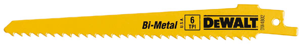 DeWalt Wood Cutting Bi-Metal Reciprocating Saw Blades - 6-in L - 6 TPI - 5 Per Pack