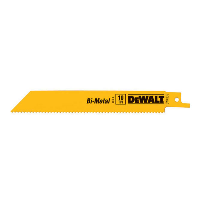 "Bi-Metal Reciprocating Blades - 6"" - 10 TPI - 5-Pack"