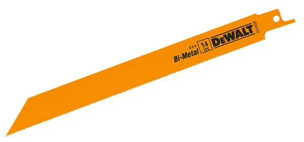 "Bi-Metal Reciprocating Blades - 8"" - 14 TPI - 5/Pack"