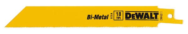 "Bi-Metal Reciprocating Blades - 6"" - 18 TPI - 5/Pack"