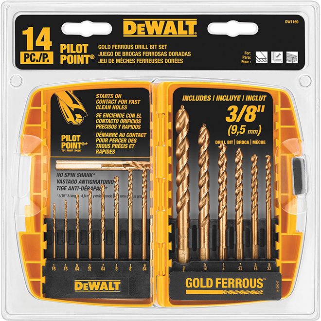 "Pilote Point"" 14-Piece Drill Bit Set"
