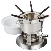 3-in-1 Fondue Set - 11 pieces - Stainless Steel