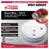 Smoke Detector 85dB - 120 V - White