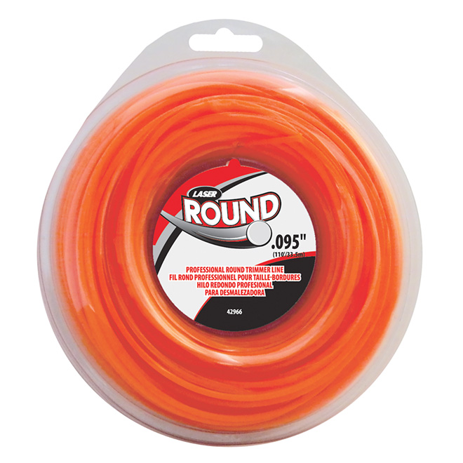 Laser Gas Edge trimmer Line - 0.095-in x 110-ft - Orange