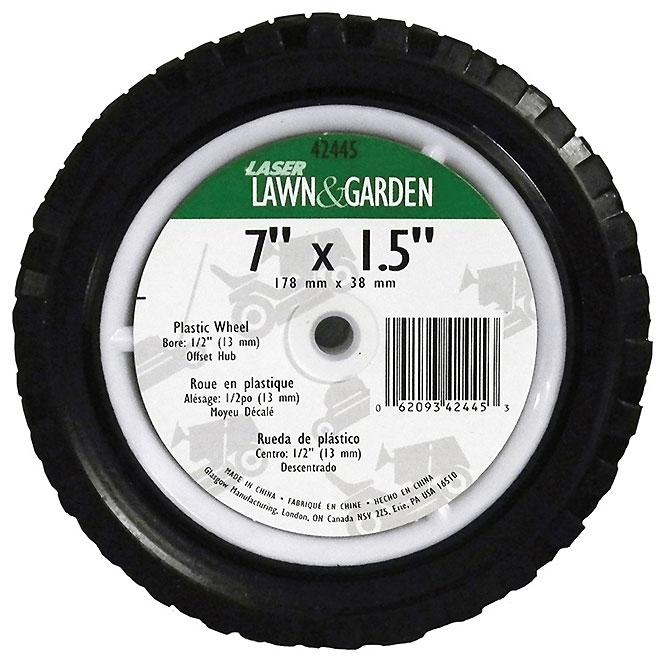 Laser Universal Wheel for Garden Equipment - Rubber - 7-in x 1 1/2-in