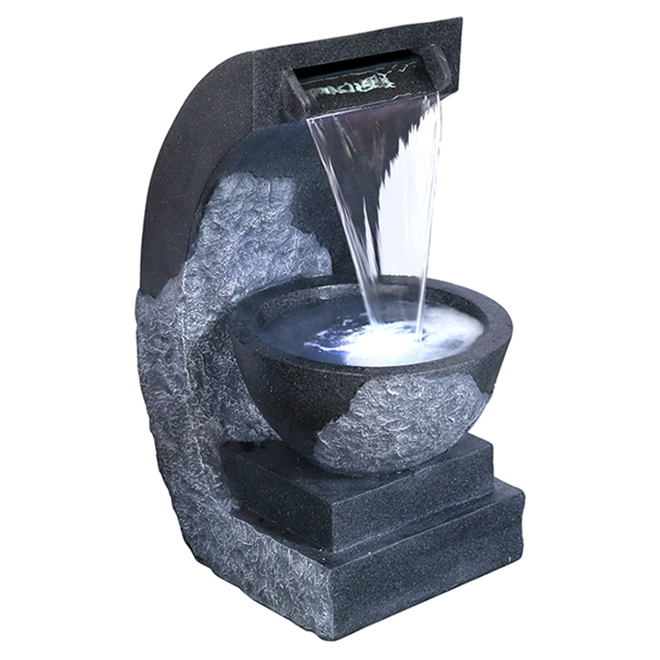 Amani Fountain with LED Lights - Fibreglass - 28""