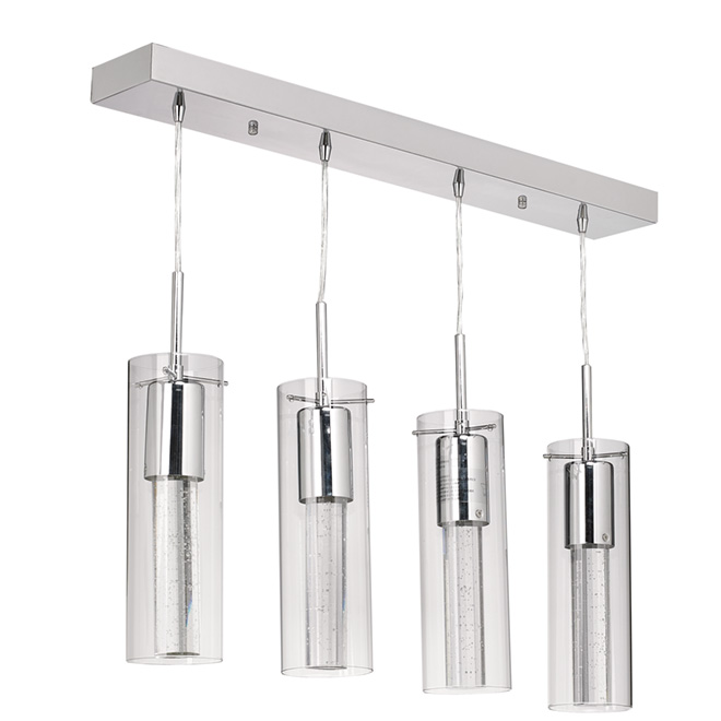 4-Light Pendant Light - Chrome