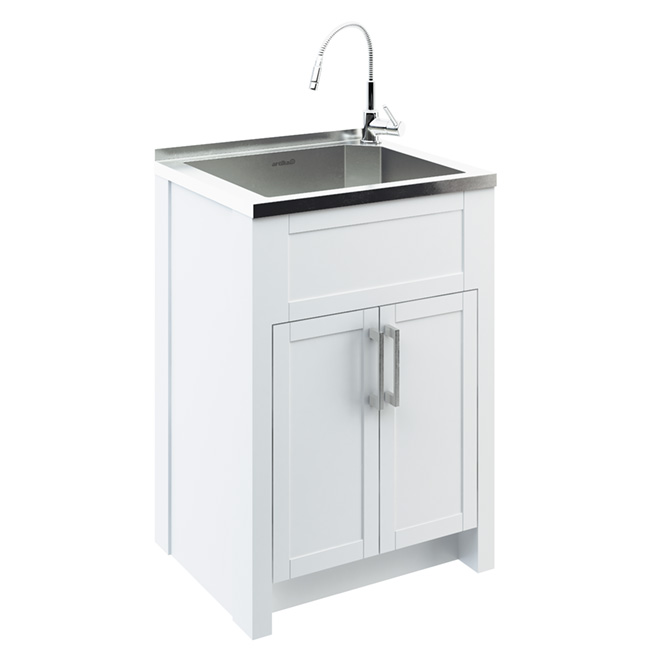 Odyssey Stainless Steel Laundry Tub With Cabinet Ltw18f7