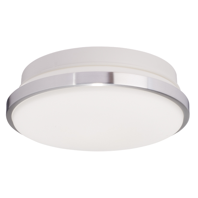 "Flushmount Ceiling LED Light 12 x 4.5"" - Chrome"