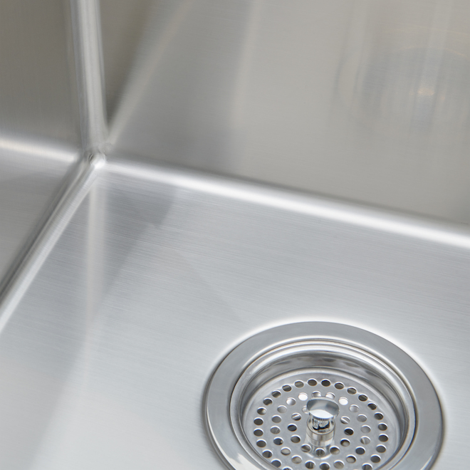 Professional stainless steel double kitchen sink rona professional stainless steel double kitchen sink workwithnaturefo