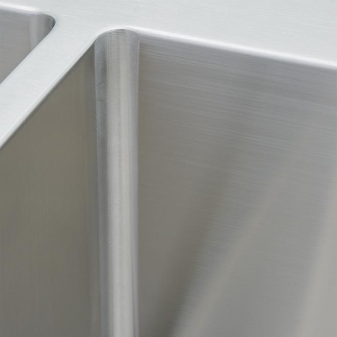 Artika Stainless Steel Kitchen Sink - Twin Bowl - 20-gal. - 31.25-in x 20.5-in x 9-in